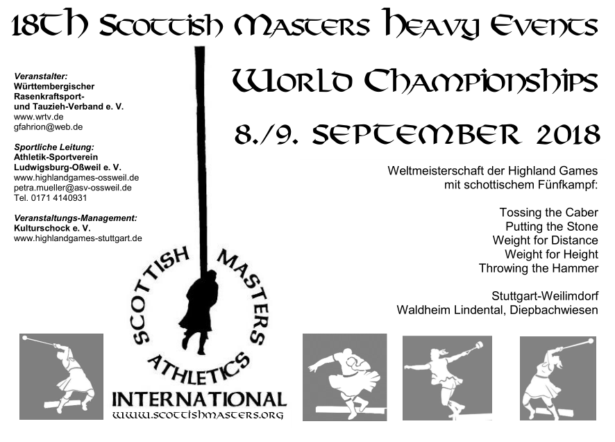 18th S cottish M asters H eavy E vents W orld C hampionships, 8./9. September 2018